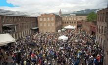 During the Spring, Summer and Fall, Mass MoCA happens as much outdoors as in.