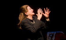 Annette Miller as Maria Callas in Master Class. Photo by Kevin Sprague.