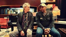 Keith Richards (l) and Aaron Neville (r).