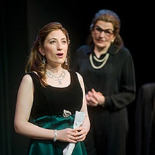 MASTER CLASS features ANNETTE MILLER (r) and DEBORAH GRAUSMAN (l) with ALEC DONALDSON, NORA MENKEN, LUKE REED and JOSEPHINE WILSON. Photo: Kevin Sprague.