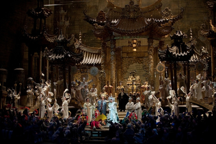 "A scene from Act III of Puccini's ""Turandot."" Photo: Marty Sohl/Metropolitan Opera Taken at the rehearsal on October 26, 2009 at the Metropolitan Opera in New York City."