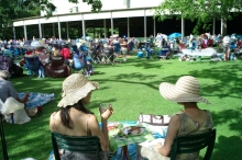 The glorious lawns of Tanglewood invite people to  plan a festive outing. Photo: Stu Rosner.