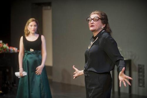 Deborah Grausman (l) as Sharon and Annette Miller (r) as Maria Callas. Photo: Kevin Sprague.
