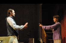 Molly Camp and James McMenamin in Extremities. Photo by Abby LePage.