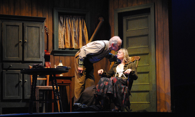 Jonathan Hogan and Rebecca Brooksher in Anna Christie. Photo by Abby LePage.