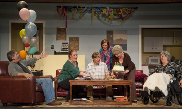 """The cast of """"Leap Year"""" at Simon's Rock. Photos: Kevin Sprague."""