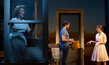 (L to R): Cass Morgan (Marge), Steven Pasquale (Robert Kincaid) and Elena Shaddow (Francesca). Photo by T Charles Erickson.