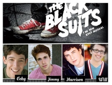 Here are the fresh faces of the boys who will play (in order) Chris, John, Brandon and Nato at Center Theatre Group in Los Angeles. Some new faces. Some familiar.  Jimmy Brewer joins us as John. Harrison Chad once again will be Brandon. That Amphibian Will Roland will rib-it the stage as Nato, just as he did at Barrington Stage in 2012. And...latest news: Coby Getzug, newly Chris in The Black Suits, was nominated for an Ovation Award in Los Angeles for his role as Moritz in the National Tour of Spring Awakening.