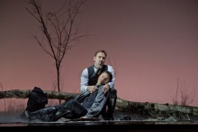 "Mariusz Kwiecien as the title character and Piotr Beczala as Lenski in Tchaikovsky's ""Eugene Onegin.""Photo: Ken Howard/Metropolitan Opera. Taken on September 19, 2013 at the Metropolitan Opera in New York City."