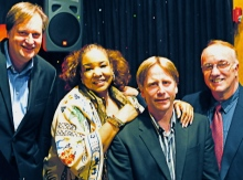 The Wanda Houston Band plays The Garage on Oct. 12: (Jeff Stevens, Trumpet and Vocals; Wanda Houston, Vocals; Rob Kelly, Keyboard and Vocals; Peter Putnam, Drums and Vocals.