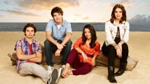 "THE FOSTERS - ABC Family's ""The Fosters"" stars Jake T. Austin as Jesus, David Lambert as Brandon, Cierra Ramirez as Mariana and Maia Mitchell as Callie. (ABC FAMILY/Andrew Eccles)"