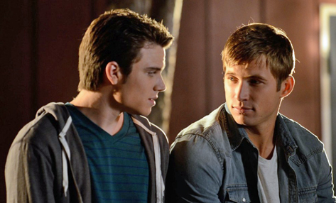 Cameron Deane Stewart and Justin Deeley in Geography Club.