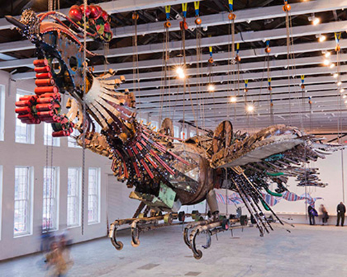 The immensity of the installation is difficult to capture in one shot. Photo by Grier Horner.