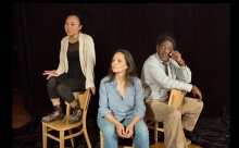 The Cast includes (l to r) Theresa Nguyen, Mariela Lopez-Ponce, Johnny Lee Davenport, photo by Mark S. Howard.