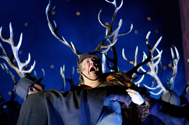"Ambrogio Maestri in the title role of a Verdi's ""Falstaff.""  Royal Opera House Photo: Catherine Ashmore"