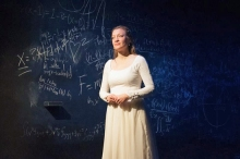 Kim Stauffer seen here in her role as Emilie will head up the Playwright's Mentoring Project at Barrington Stage .Photo by Enrico Spada.