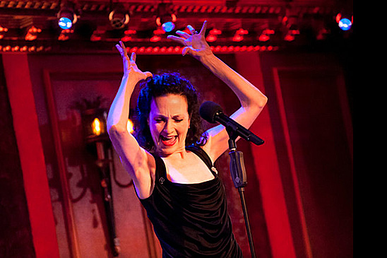 """Bebe Neuwirth earlier this year at 54 Below in New York City with her cabaret show """"Stories with Piano"""". Photo by Karsten Moran."""