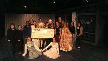 BIG CHECK: The cast and crew of WAM Theatre's Emily present their largest donation yet to Berkshire-nased ROPE.