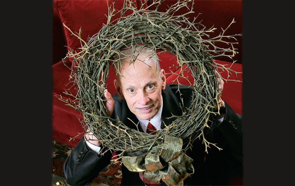 waters endures the commercialization of christmas as his wreath of thorns - John Waters Christmas