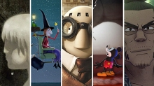 (l to r) Animated films Feral, Get a Horse!, Mr. Hublot, Possessions and Room on the Broom.