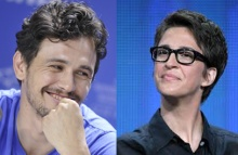 James Franco (l) and Rachel Maddow earned their Dorians as the  WIlde  artist and wit of the year.
