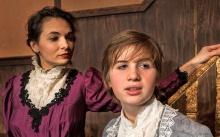 Stephanie Tanaka, Rozara Sanders in My Cousin Rachel at the Ghent Playhouse.