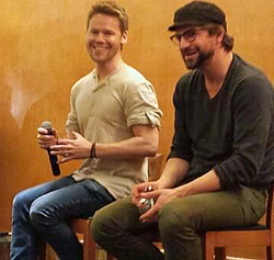The ability to stream QAF (in the US at least) has seen the original stars come together. Above Randy Harrison and Gale Harold at the last Q&A panel at the QAF Con in Bilboa Spain on 3/3014.