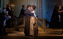 "A scene from Massenet's ""Werther"" with Jonas Kaufmann as the title character and Sophie Koch as Charlotte. Photo: Ken Howard Metropolitan Opera."