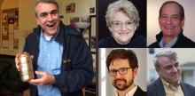 (l) Charlie Siedenburg, (r) new Associate Artists at BSC - Pat McCorkle, Scott Pinkney, Brian Prather and Charlie Siedenburg.