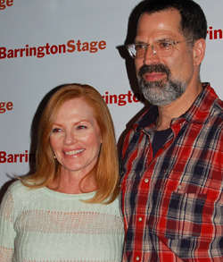 Marg Helgenberger and  Christopher Innvar. Murray photo.