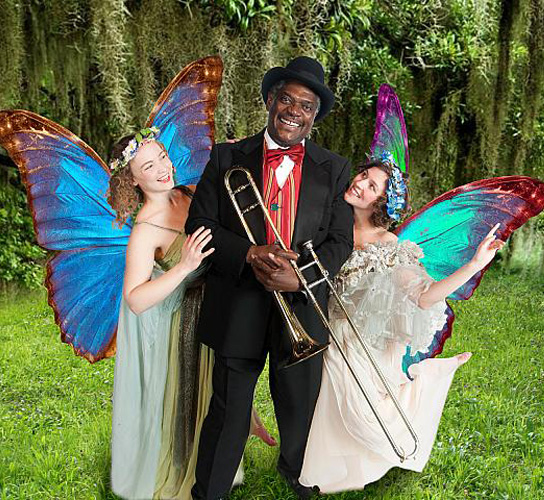 A Midsummer Night's Dream. L-R: Annie Considine, Johnny Lee Davenport and Kelly Galvin. Casting subject to change. Photo by Kevin Sprague.