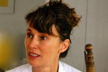 Michelle Joyner as Emma, in a rehearsal photo by Daniel Elihu Kramer.