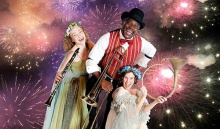 A Midsummer Night's Dream. L-R: Annie Considine, Johnny Lee Davenport and Kelly Galvin.  Photo by Kevin Sprague.