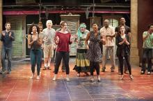 At Shakepeare & Company in Lenox, a rehearsal of A Midsummer Night's Dream.  Photo by Elizabeth Aspenlieder.