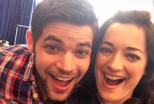 A selfie captures the high spirits as rehearsals begin.