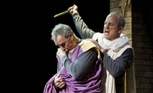 Julius Caesar with Nigel Gore and Andrew Borthwick-Leslie.  Photo by Kevin Sprague.