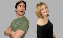 Justin Long (l) and Renee Fleming