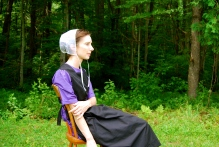 Rehearsal photo of  Allison McLemore in The Amish Project at Chester (MA) Theatre Company., Photo by Daniel Elihu Kramer.
