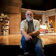 Playwright Mark St. Germain on the set. Photo by Kevin Sptrague.