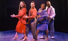 Strutting onto The Mac-Haydn Theatre stage in nearby Chatham, NY September 5 through 14.  are  Phil Sloves, Sarah Talbot, La'Nette Wallace and Don Seldon.