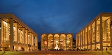 The Metropolitan Opera House (center) at Lincoln Center.