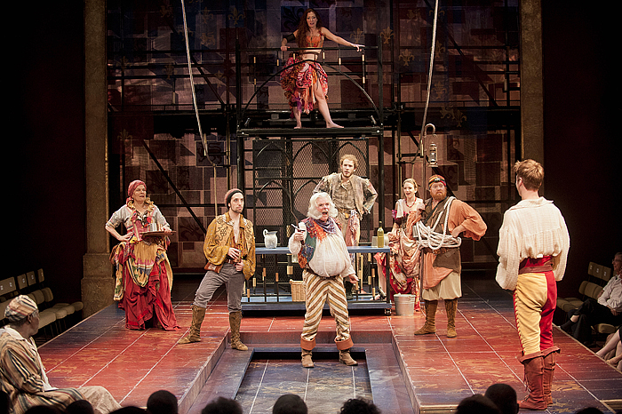 The cast of Henry IV, Parts I and II. Photo by Kevin Sprague.
