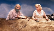 Commonwealth Shakespeare Company presents Samuel Beckett's HAPPY DAYS. Directed by Andrei Belgrader, this reexamination of the classic features Brooke Adams as Winnie, a woman buried up to her bosom in a mound of dirt with nothing to pass the time but the ragged contents of her bag, her nimble wit, and her husband Willie, (Tony Shalhoub), lurking somewhere behind her. Performances are November 18 - 23 at Carling-Sorenson Theater at Babson College in Wellesley., MA.