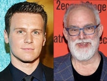 Jonathan Groff (l) will portray William Finn (r) in A New Brain, a musical about the after-effects of brain surgery.