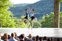 Indoors and out, there is no better okace to immerse yourself in dance than at Jacob'sPillow in Becket, MA. Photo of the inside-out stage by Jamie Kraus.