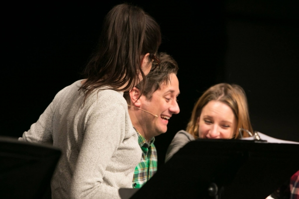 Sara Bareilles, Christopher Fitzgerald and Jessie Mueller at New York workshop. Photo by BWW's  Jimmy Ryan.