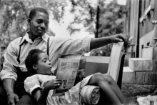 Earl Collins and his daughter, Doris Jean. Courtesy The Gordon Parks Foundation and Museum of Fine Arts, Boston.