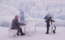 For variations on Vivaldi's winter, they created an arctic setting, wore gloves and tuned their instruments carefully.
