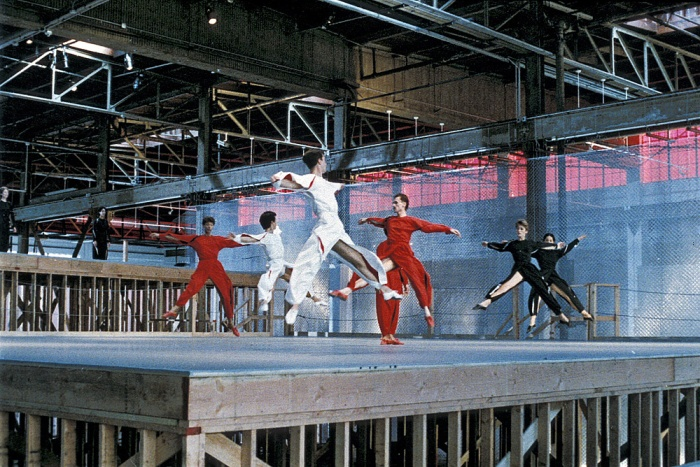 """Available Light"" is reimagined at Mass MoCA as choreographer Lucinda Childs, set designer Frank Gehry and composer John Adams are artists in residence at Mass MoCA.."