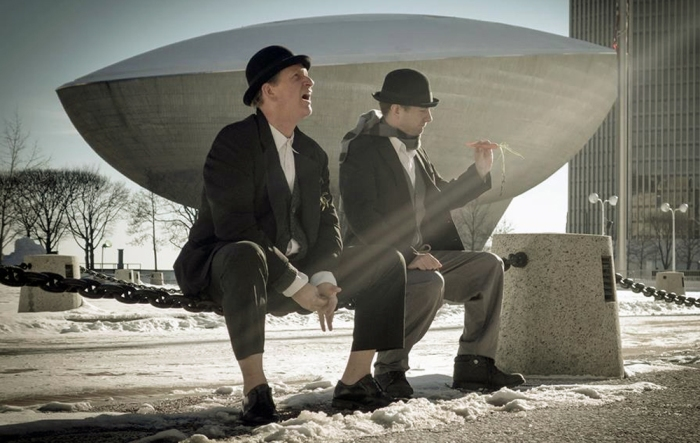 Waiting for Godot features Patrick White and Stephen Henel as Didi and Gogo.